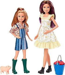Barbie GHT16 - Zabawa na farmie, lalki i staczki, świnki i jabłka, zabawka od 3 lat
