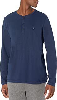 Men's Long Sleeve Henley Pajama Top