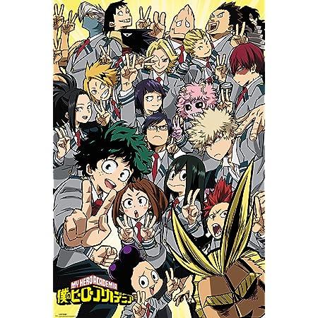 SGOT Anime My Hero Academia Poster de Bakugou Katsuki Todoroki Shoto Painting Midoriya Izuku imperm/éable D/écoration Murale 30 x 42 cm H02
