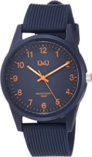 [シチズン キューアンドキュー]CITIZEN Q&Q 腕時計 アナログ 10気圧防水 ウレタンベルト ネイビー VS40-012