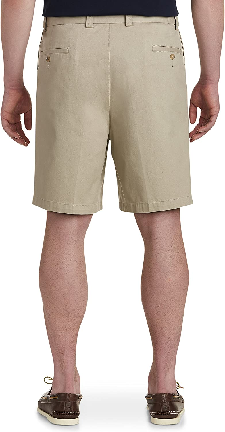 Harbor Bay by DXL Big and Tall Waist-Relaxer Pleated Shorts