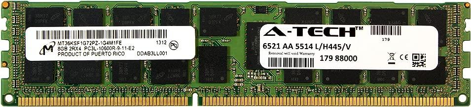 A-Tech Micron 8GB Module PC3-10600 1.35V for HP ProLiant DL380 G7 DL380P G8 DL385P G8 DL560 G8 713985-B21 DL580 G7 DL585 G7 DL980 G7 ML330 G6 ML350E G8 ML350P G8 WS460c G8 BL460C G7 Memory RAM