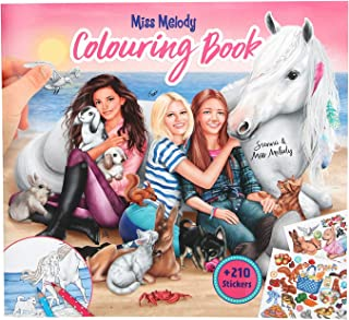 Top Model Miss Melody Colouring Book with Animals (0010409), Multicolor (DEPESCHE 1)