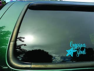 Gypsea Soul Starfish Sky Blue- Die Cut Vinyl Window Decal/sticker for Car/Truck/Laptop 6.5