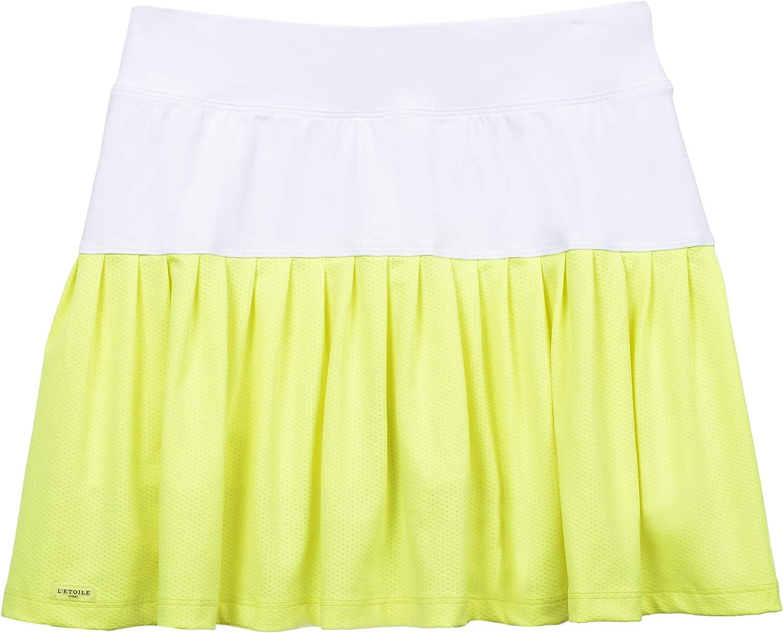 L'etoile Indefinitely Sport Pleated Skort Yellow White trend rank