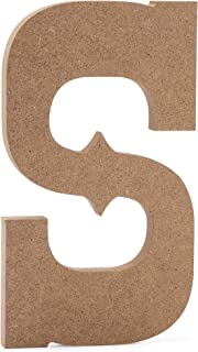 "6"" Western Wooden Letter S - JoePaul's Crafts Premium MDF Wood Wall Letters (6 inch, S)"