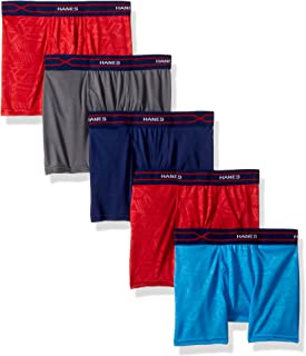 Hanes Boys' X-Temp Performance Cool Boxer Brief 5-Pack