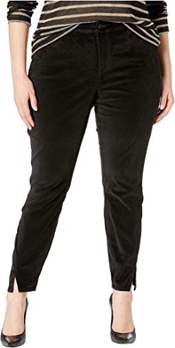 Plus Size Ami Skinny w/ Twisted Side Seam Slits in Black