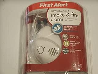 First Alert 120-Volt AC Hard-Wired Smoke Alarm with Battery Backup Item#171423 Model# SA9120BPCN-6 UPC#029054001672