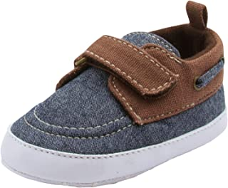 BARE HUGS Baby Boys Soft Infant Boat Shoe Style Loafer (See More Colors and Sizes)