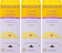 Sponsored Ad - Bigelow I Love Lemon Herbal Tea Bags 28-Count Box (Pack of 3) Lemon-flavored Herbal Tea Bags All Natural