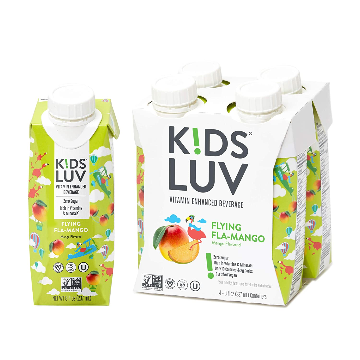 KidsLuv Vitamin Enhanced drinks Pack Sale special price Z Fla-Mango 16 Flying of free shipping