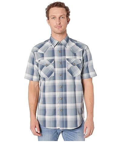 Pendleton Frontier Shirt Short Sleeve (Blue/Grey/Tan Plaid) Men