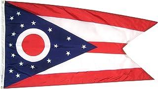 Annin Flagmakers Model 144260 Ohio State Flag 3×5 ft. Nylon SolarGuard Nyl-Glo 100%..