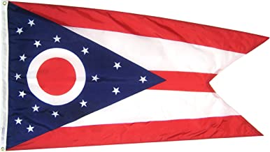 product image for Annin Flagmakers Model 144260 Ohio State Flag 3x5 ft. Nylon SolarGuard Nyl-Glo 100% Made in USA to Official State Design Specifications.