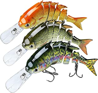 TRUSCEND Fishing Lures for Bass Trout Segmented Multi Jointed Swimbaits Slow Sinking Swimming Lures Freshwater Saltwater B...