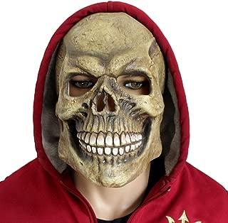 CreepyParty Deluxe Novelty Halloween Costume Latex Head Mask (Skull Head) Green