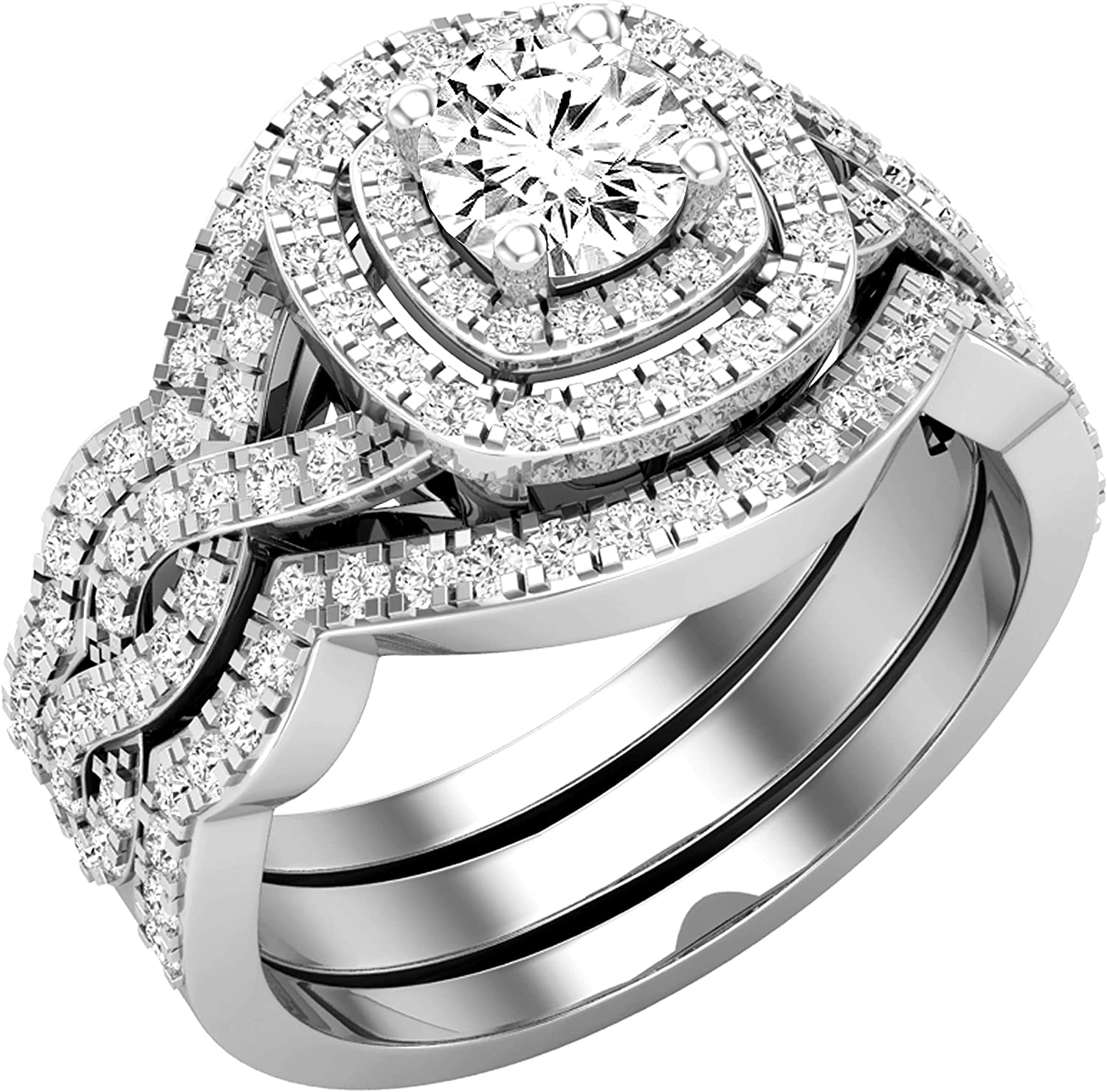 Dazzlingrock Collection 1.25 Carat ctw Round 70% OFF Outlet Long-awaited DGLA Wh Certified