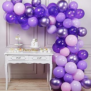 PartyWoo Purple Balloons, 70 Pcs 12 Inch Pastel Purple Balloons, Lilac Balloons, Violet Balloons, Purple Metallic Balloons...
