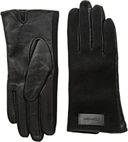 Knit and Leather Gloves