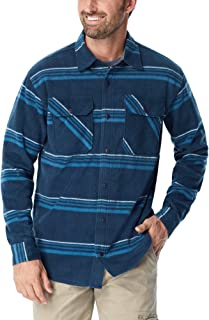Authentics Men's Long Sleeve Plaid Fleece Shirt, Blanket...