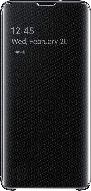 Samsung Galaxy S10 S-View Flip Case, Black