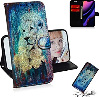 iPhone 11 Pro Case,ZERMU Dazzle Color Plants and Animal Pattern Premium PU Leather Shockproof Kickstand Wallet Case with Card Holder ID Slot and Hand Strap Magnetic Closure for iPhone 11 Pro 5.8