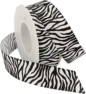 Morex Ribbon Zebra Fest Grosgrain Ribbon, 1-1/2-Inch by 20-Yard