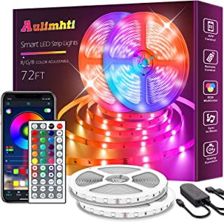 72ft/22m Led Strip Lights, Smart Led Light Strips Music Sync 5050 RGB Color Changing led Strip,Bluetooth APP/IR Remote/Swi...