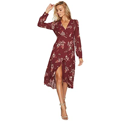 ASTR the Label Nikki Dress (Wine Multi Floral) Women