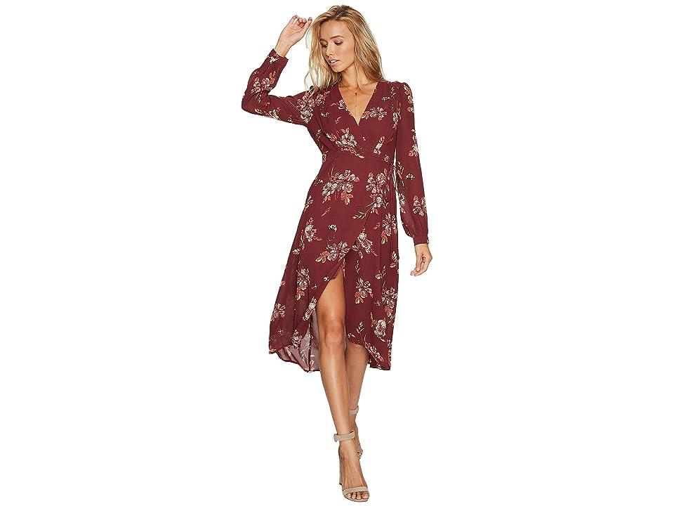 ASTR the Label Nikki Dress (Wine Multi Floral) Women