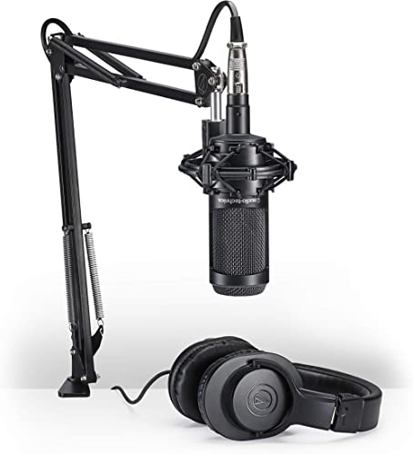 Audio-Technica AT2035PK Vocal Microphone Pack for Streaming/Podcasting, Includes XLR Mic, Adjustable Boom Arm, Shock ...