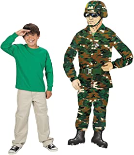 Large Army Soldier Cardboard Cutout (5 Feet Tall) Party Decor