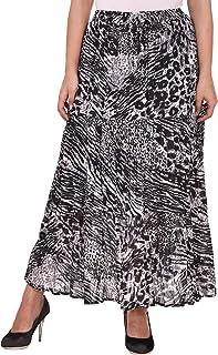 COTTON BREEZE Women's Cotton Skirt (FP433, Multicolour, Free Size)