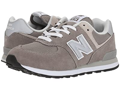 New Balance Kids PC574v1 (Little Kid) (Grey/Grey) Boys Shoes
