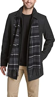 Men's Weston Wool Blend Car Coat with Scarf (Standard & Big-Tall Sizes)