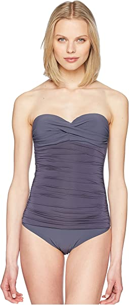 Cannes Ruched Bandeau Control One-Piece