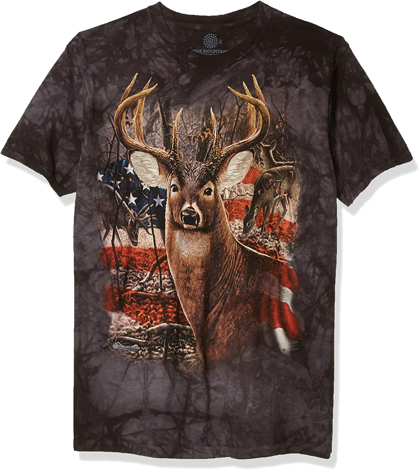 The Mountain Men's Buck Quality Inexpensive inspection Patriotic Tshirt