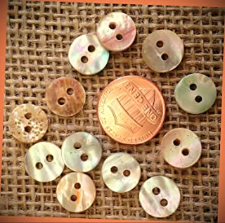 """New Lot of 12 Small Red Abalone Natural Shell DIY Sewing Buttons 7//16"""" inch 11mm Crafting Supplies by InnaBest"""
