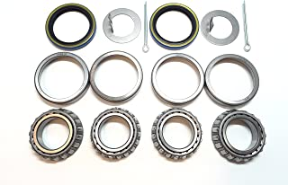 WPS Trailer Hub Wheel Bearing Kits L44649 L44610 Spindle 1.063'' (1 1/16-Inch) Grease Seal 15192TB I.D. 1.500'' for 2000# EZ Lube Axles