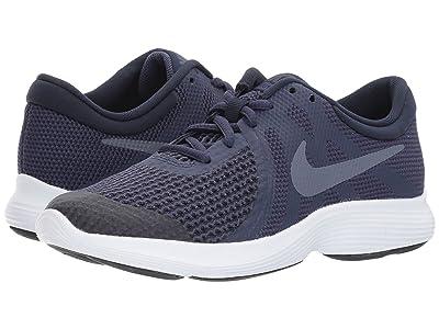 Nike Kids Revolution 4 (Big Kid) (Natural Indigo/Light Carbon/Obsidian/Black) Boys Shoes