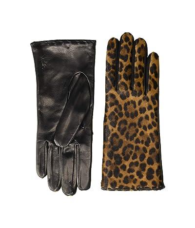 Polo Ralph Lauren Leopard Gloves (Leopard/Black) Over-Mits Gloves