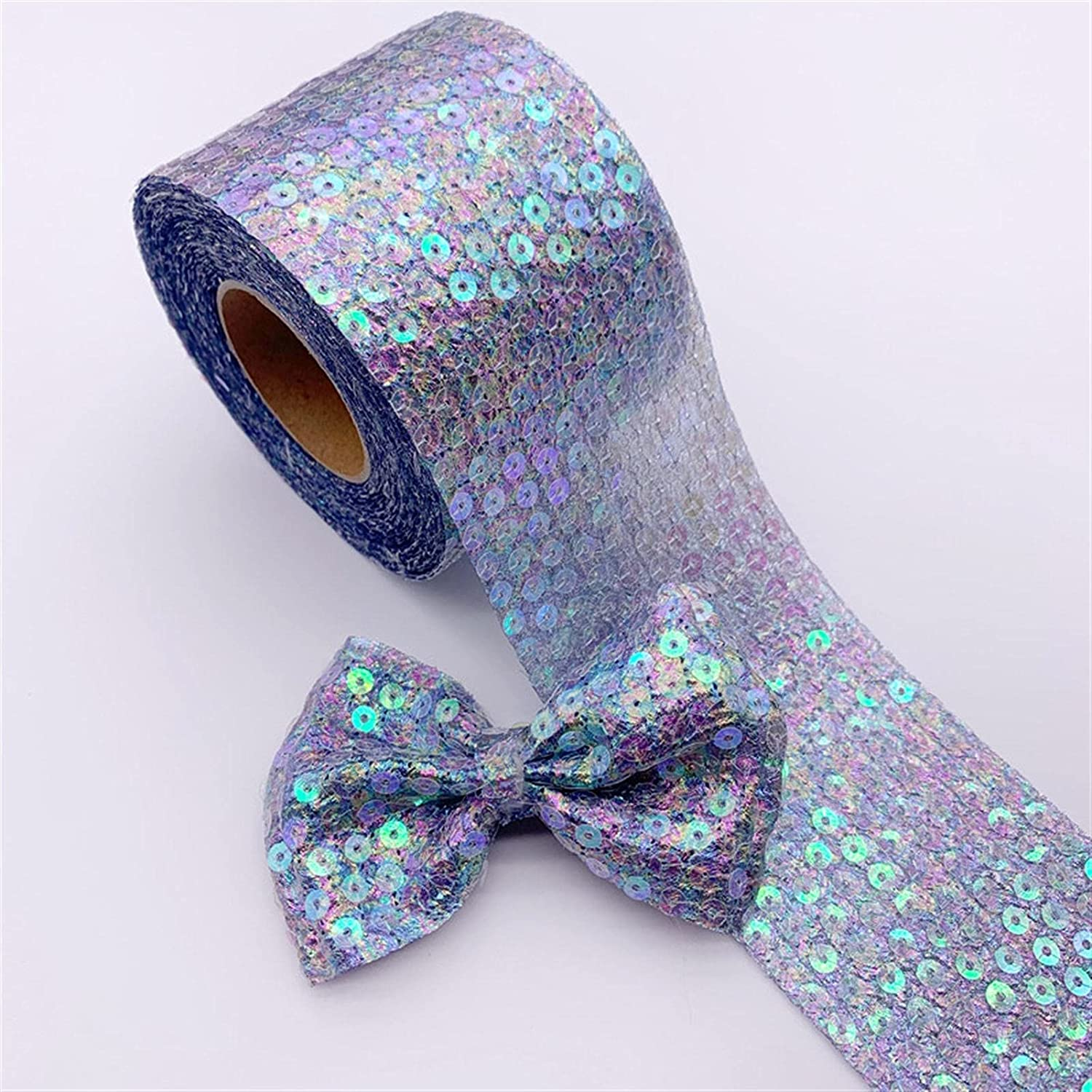 GMMDXD 5 Yards Japan's largest assortment Seersucker Coloful Rib Embroidery Organza Sequins Shipping included