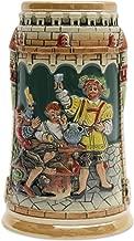 Beer Stein German Castle Festive Engraved Beer Mug by E.H.G. | .60 Liter