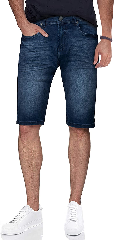 CULTURA AZURE Slim Jean Shorts for Men, Men's Stretch Casual Denim Shorts Modern Slim Fit