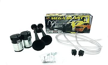 Product Name: HS 22.520 Mega Blast Dual Black Air Horns 12Volts