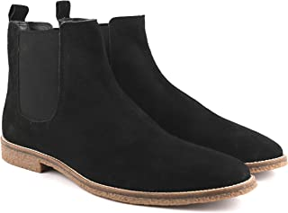 Freacksters Men's Suede Leather Chelsea Boots