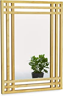 Relaxdays 10020483 - Espejo madera de pino 70 x 50 x 2 cm