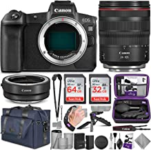 Canon EOS R Mirrorless Digital Camera and Canon RF 24-105mm Lens + Canon EF-EOS R Mount Adapter with Altura Photo Complete Accessory and Travel Bundle
