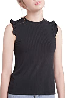 The Elements Sleeveless Frill Knit Top